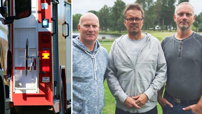 Robert Brodin, Jari Peltonen och Jonas Bergqvist.