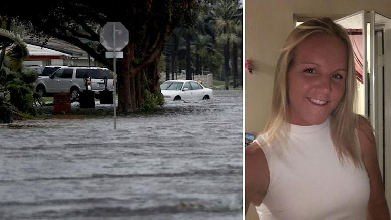 Emma Bergsell i Florida under orkanen Irma