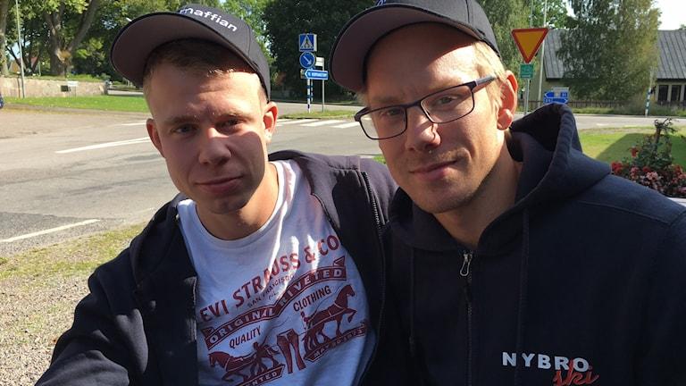 Emil Folkesson och Lasse Ericsson i Nybro Ski.