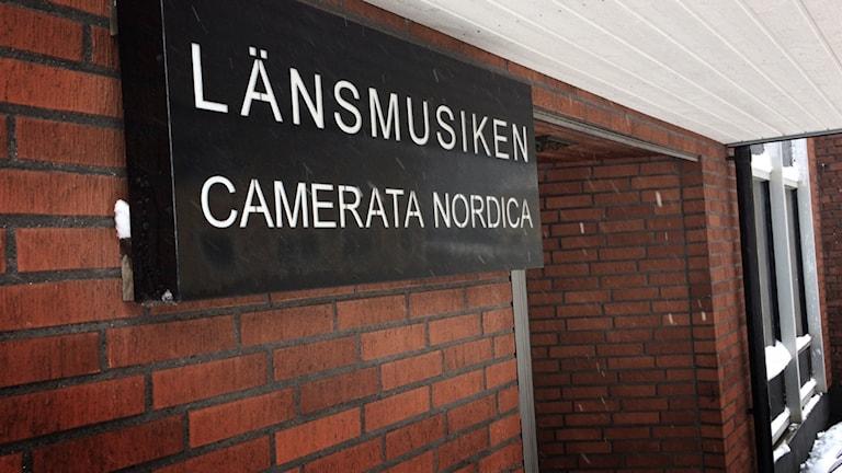 Skylt: Camerata Nordica Länsmusiken