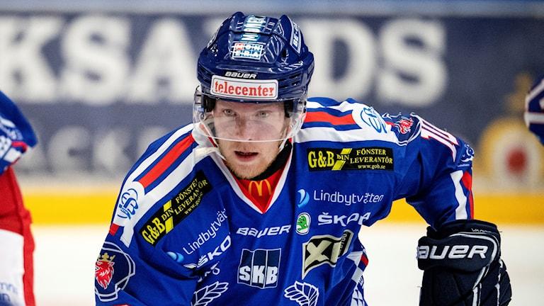 Nicklas Heinerö, IK Oskarhamn på isen.