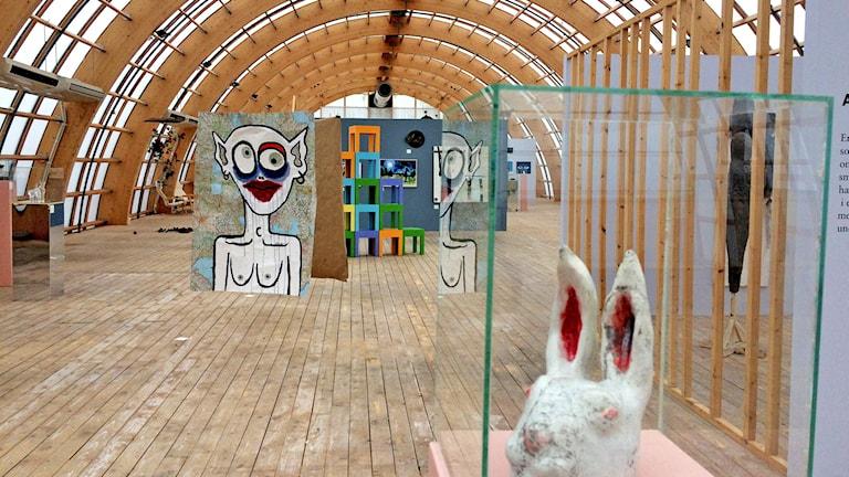 Interiör från en konstutställning