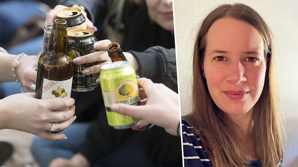 Öl, cider och en kvinna.
