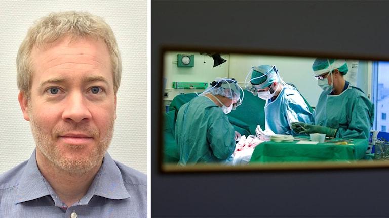 Karl Landergren och en operationssal.