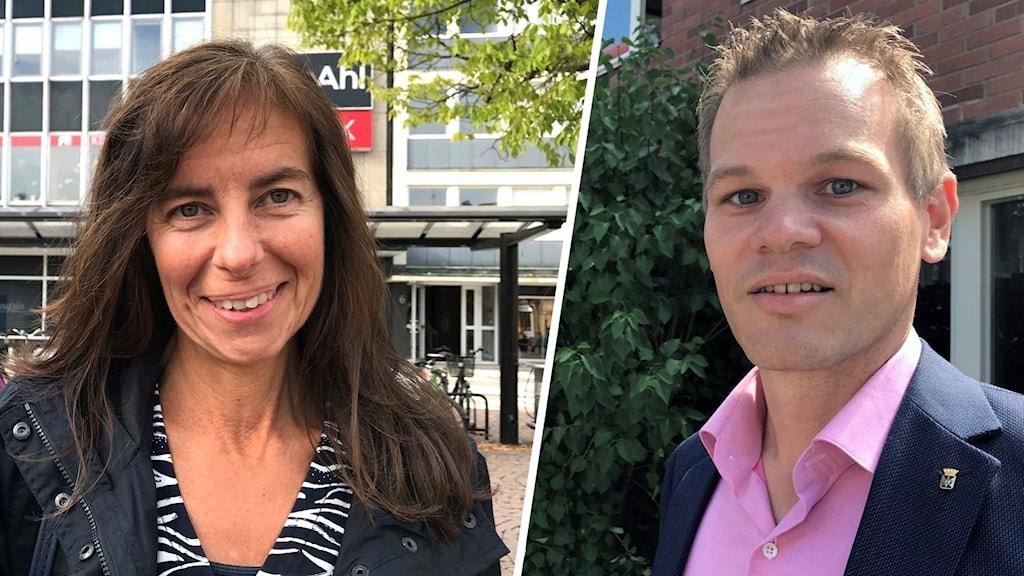 Två bilder på Ingela Ottosson och Andreas Erlandsson.