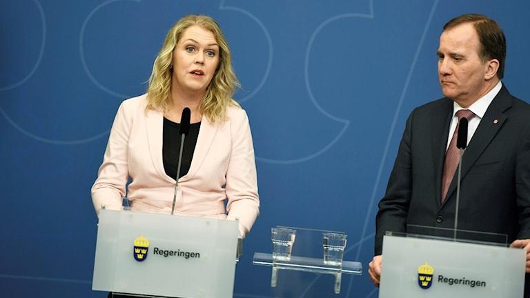 Lena Hallengren och Stefan Löfven.