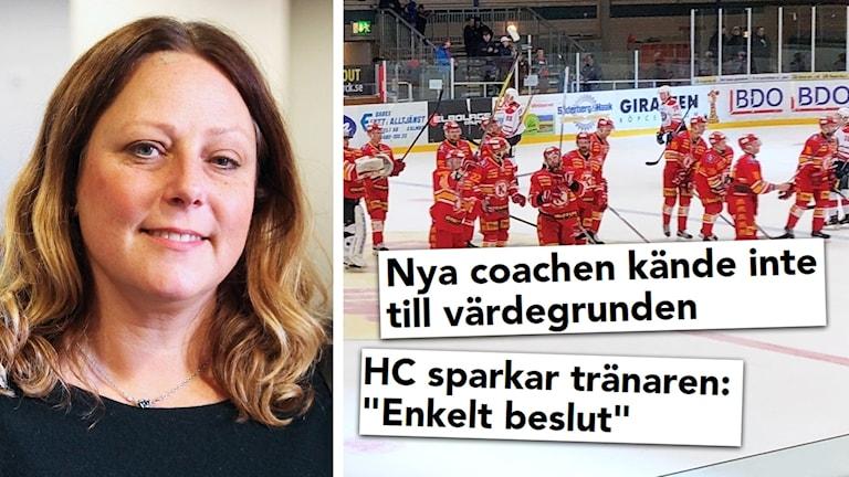 Marianne Dahlberg och rubriker.