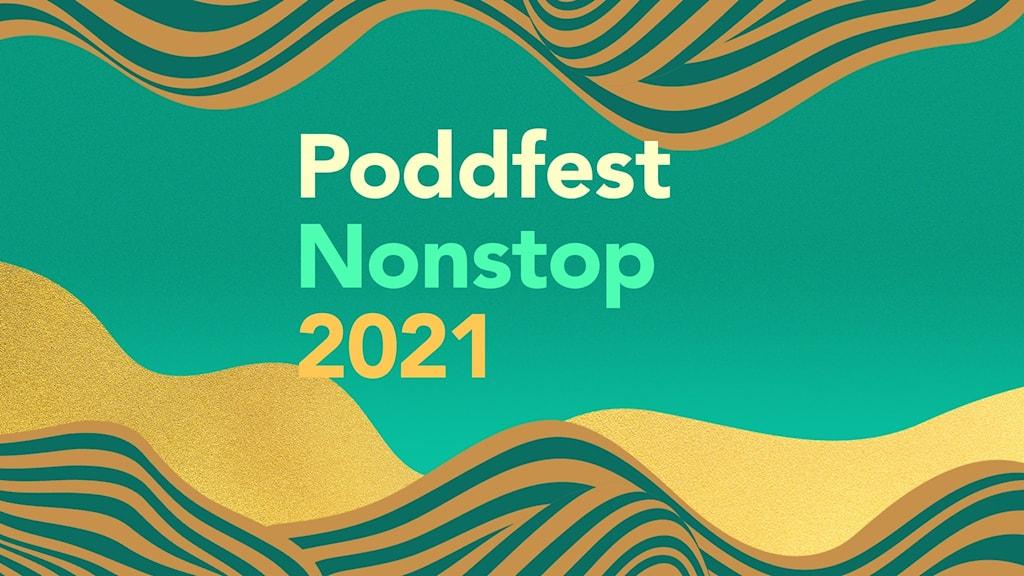 Poddfest Nonstop 2021 logotyp