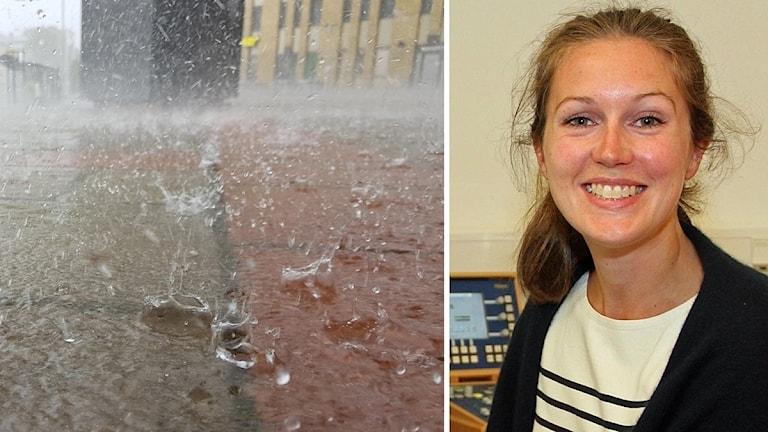 Regnstänk och bild på Madeleine Granlund.
