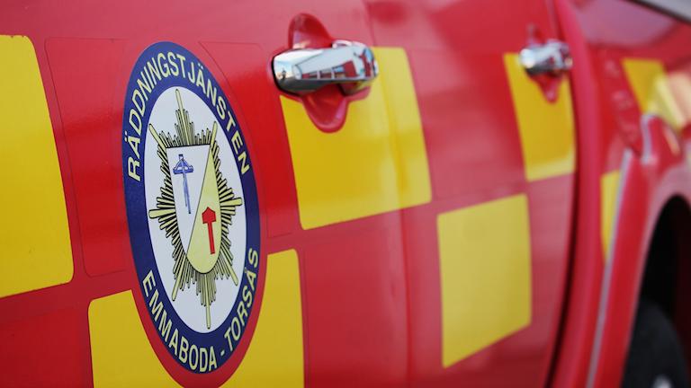 Räddningsledarbil från emmaboda och torsås.