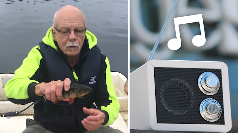 """Rolf """"Tjoffen"""" Andersson sitter i en båt."""