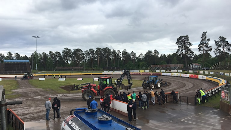 Regn förstörde för Västervik Speedway.