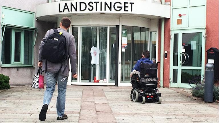Landstingets huvudkontor.