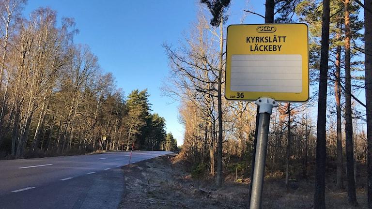 Busshållplatsen i Kyrkeslät som oroar föräldrar.