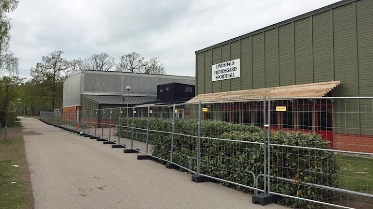 Sporthallen i Lindsdal.