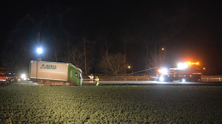 Bärgning av lastbil