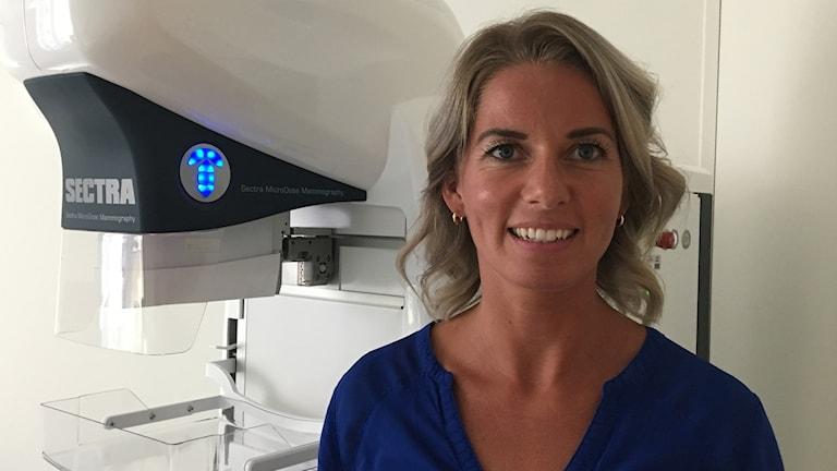 Inez Dekker basenhetschef på mammogravdelningen i Kalmar.