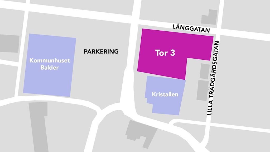 Grafik: Karta: Gator och tomt.