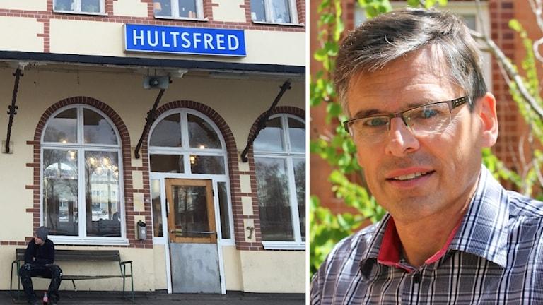 Hultsfreds järnvägsstation och Lars Rosander