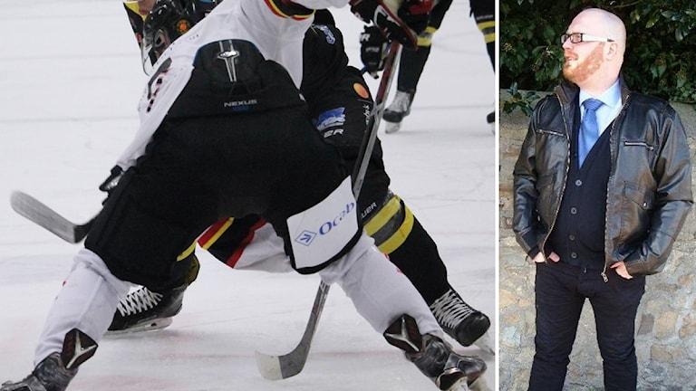 Hockeyspelare och bild på Tobias Stark.