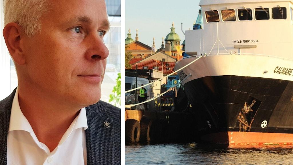 Ted Bågfeldt och fartyg.