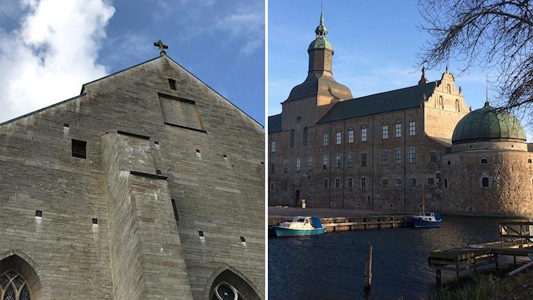 Klosterkyrka och slott i Vadstena.
