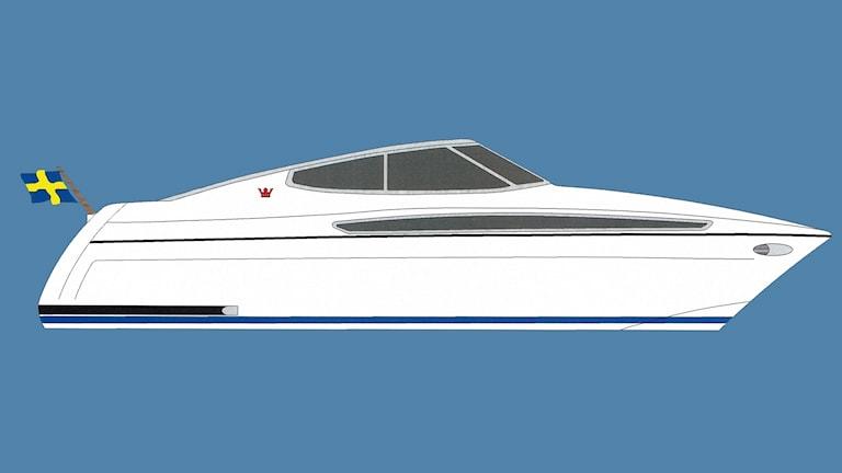 Ritning på Storebros nya motbåt