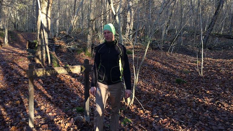Magnus Grimheden - naturreservatsförvaltare i Figeholms reservat.