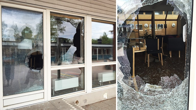 Krossade rutor på Lindsdalsskolan i Kalmar.