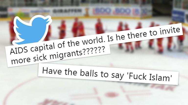 Duane Smiths inlägg på Twitter. Skärmklipp. Ishockeyspelare.