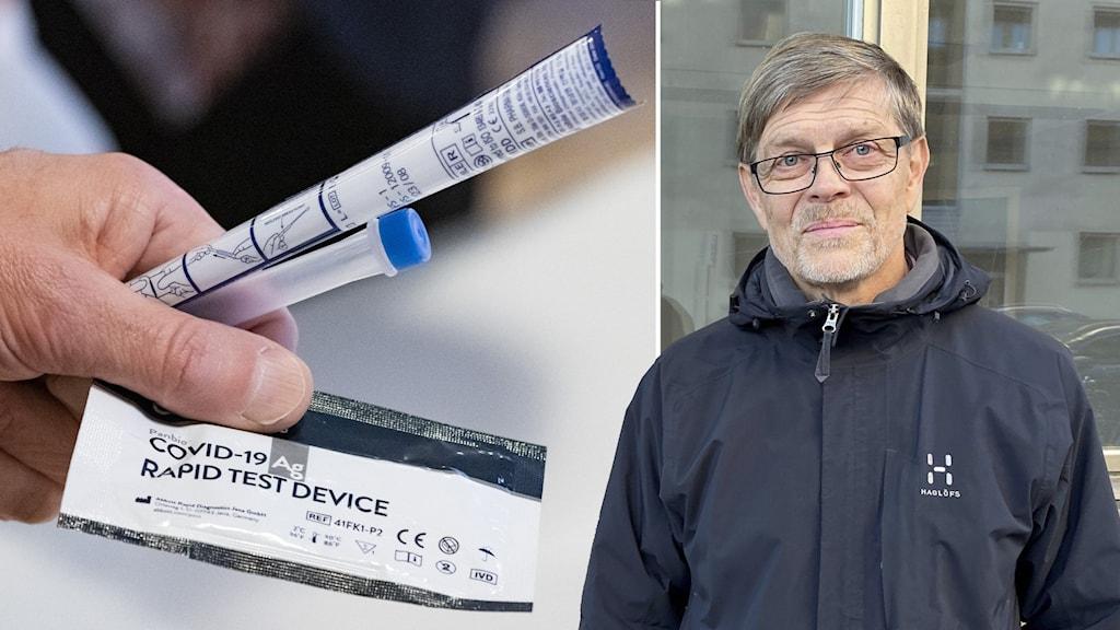 Signar Mäkitalo och covid test