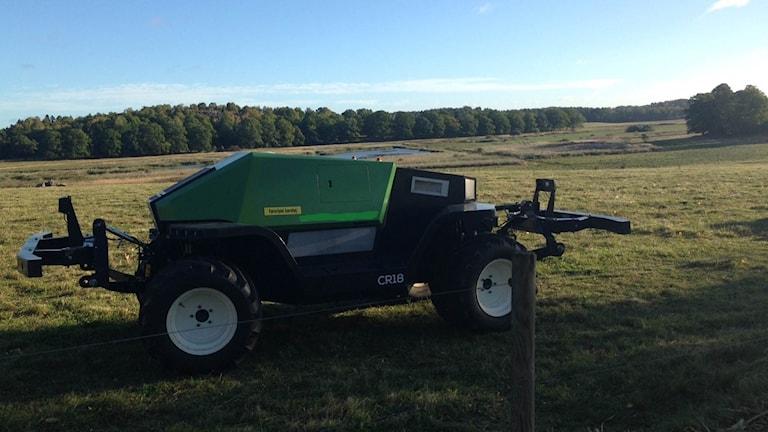 Sådana här fordon kan bruka lantbruksmarken utan förare.