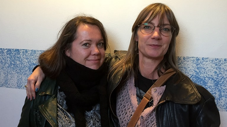 Mediakollarna Annica Edwall och Kajsa Engstrand.