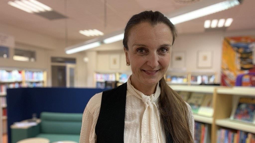 Ranka Klincov, bibliotekschef i Flen.