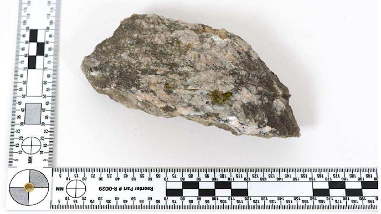 Stenen som användes mot polisen i Lagersberg.