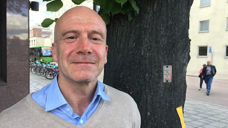 Fredrik Lundgren (L) landstinsgråd. Foto: Fredrik Blomberg/Sverige Radio.
