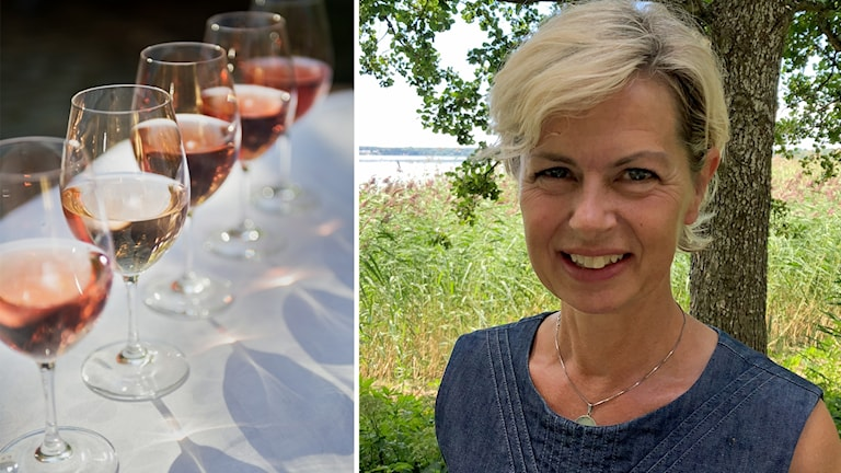 Rosévin och Gunilla Hultgren Karell