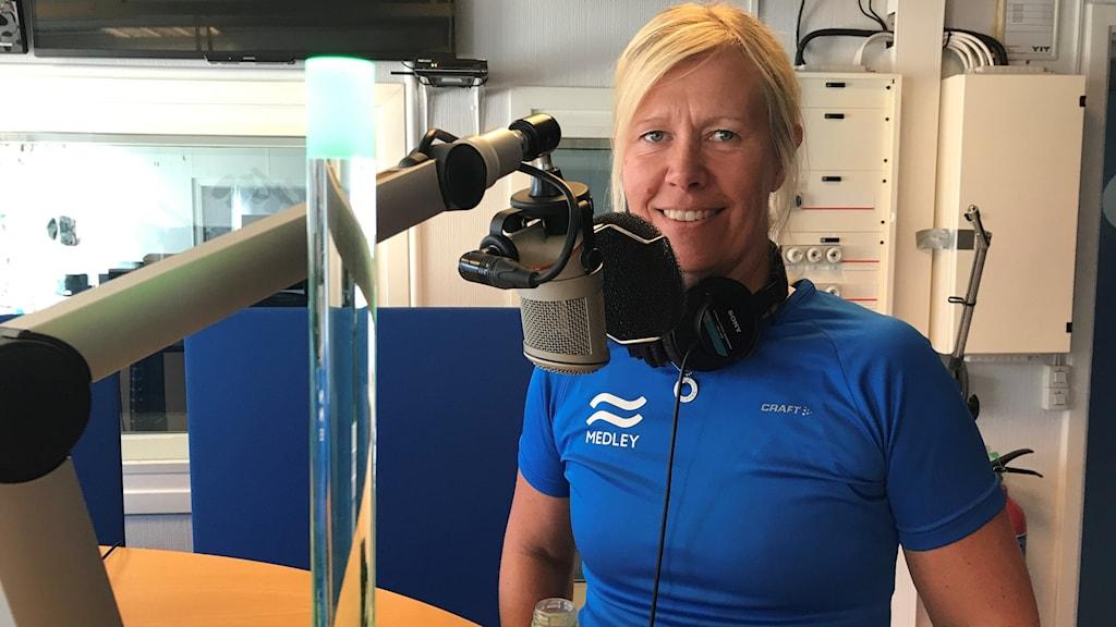 Ulrika Jerräng, träningscoach på plats i studion i Nyköping.