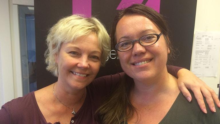 Lena Appel och Annica Engwall är dagens mediakollare.