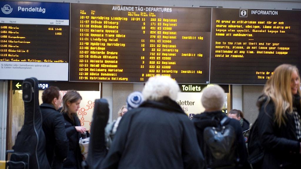 Tågförseningar Flen - Katrineholm