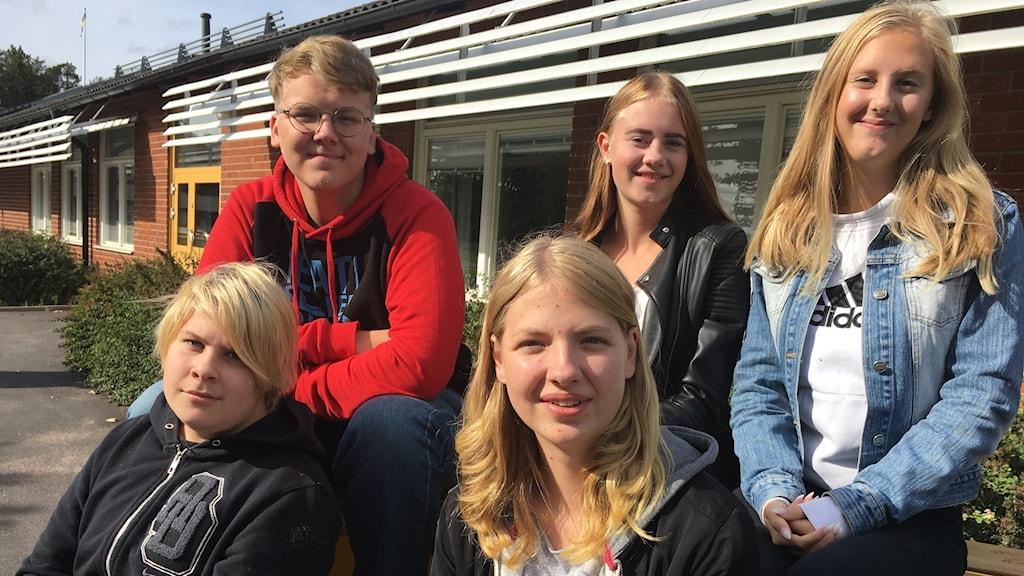 elever i åk 9 Hedebyskolan
