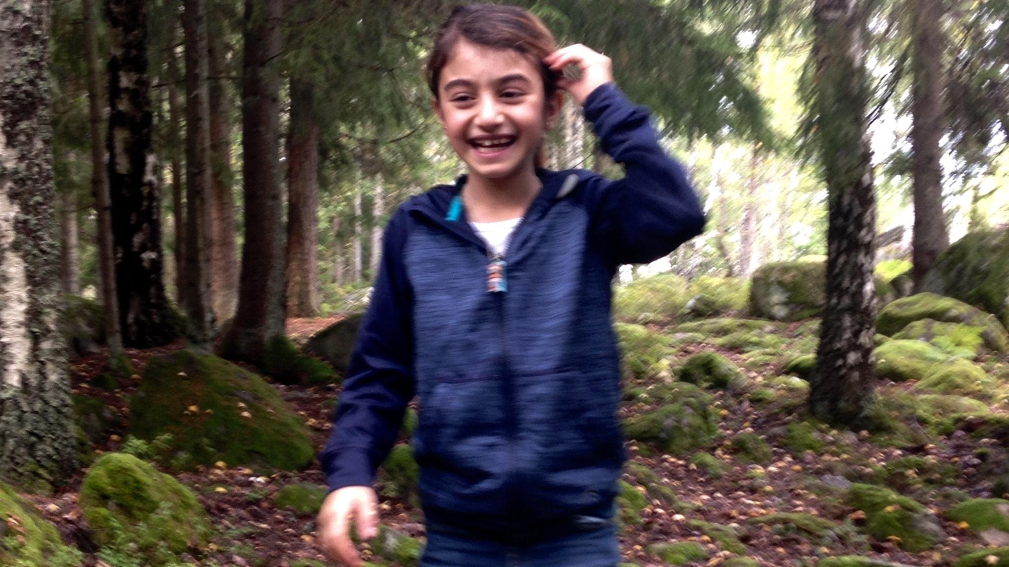 Haiyat Hussein i skogen
