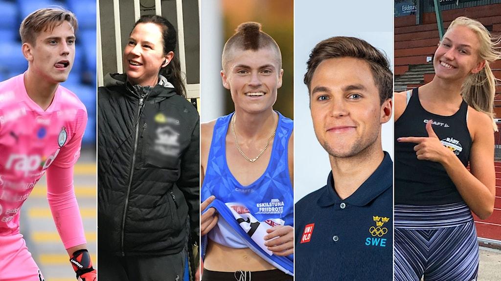 Wille Jakobsson, Malin Bergström, Emil Millan de la Oliva, Hannes Puman, Maja Åskag.