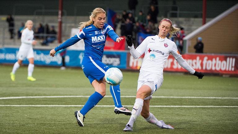 Eskilstuna Uniteds anfallare Mimmi Larsson.