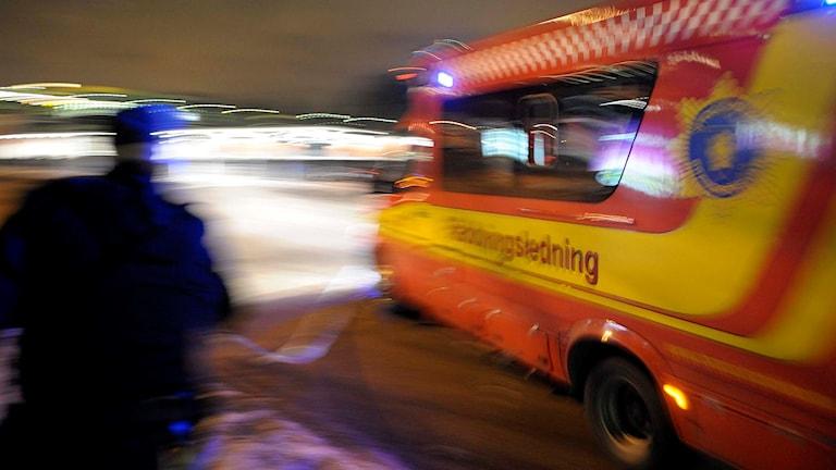 Räddningsledningsbil.