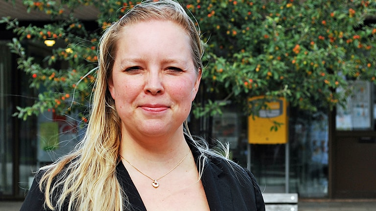 Kukkamariia Valtola Sjöberg, Miljöpartiet i Gnesta. Foto: Sara Choghrich/Sveriges Radio Sörmland
