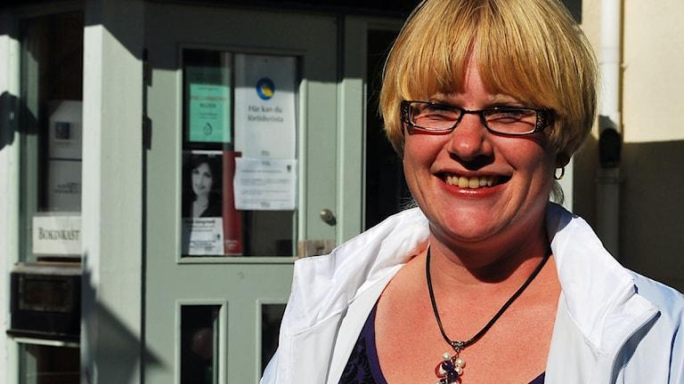 Martina Johansson, Centerpartiet i Trosa. Foto: Sara Choghrich/Sveriges Radio Sörmland
