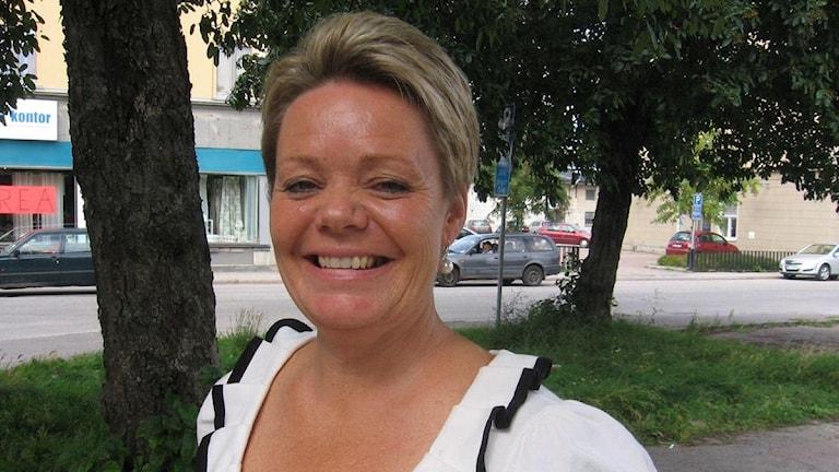 Lotta Finstorp (M). Foto: Reino Helin/SR Sörmland.