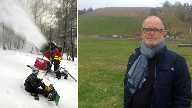 Jesper Israelsson - ansvarig för snötillverkningen i Vilstabacken