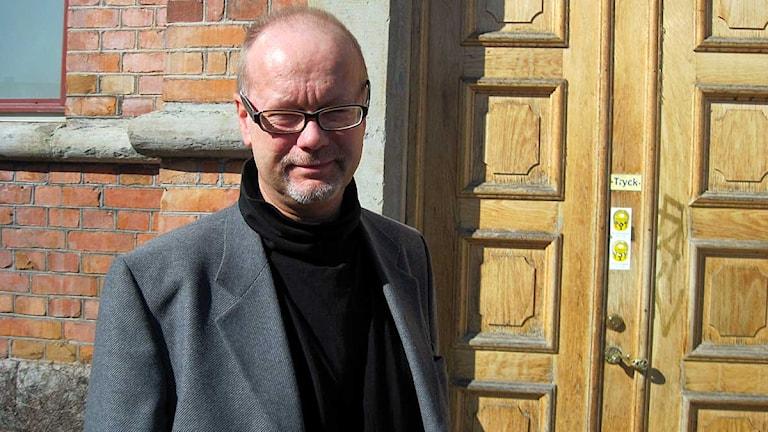 Magnus Eriksson, ordförande för Kommunals Vuxenklubb i Eskilstuna. Foto: Leila Zoubir/Sveriges Radio Sörmland.